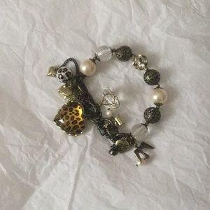 Betsy Johnson mixed media bracelet